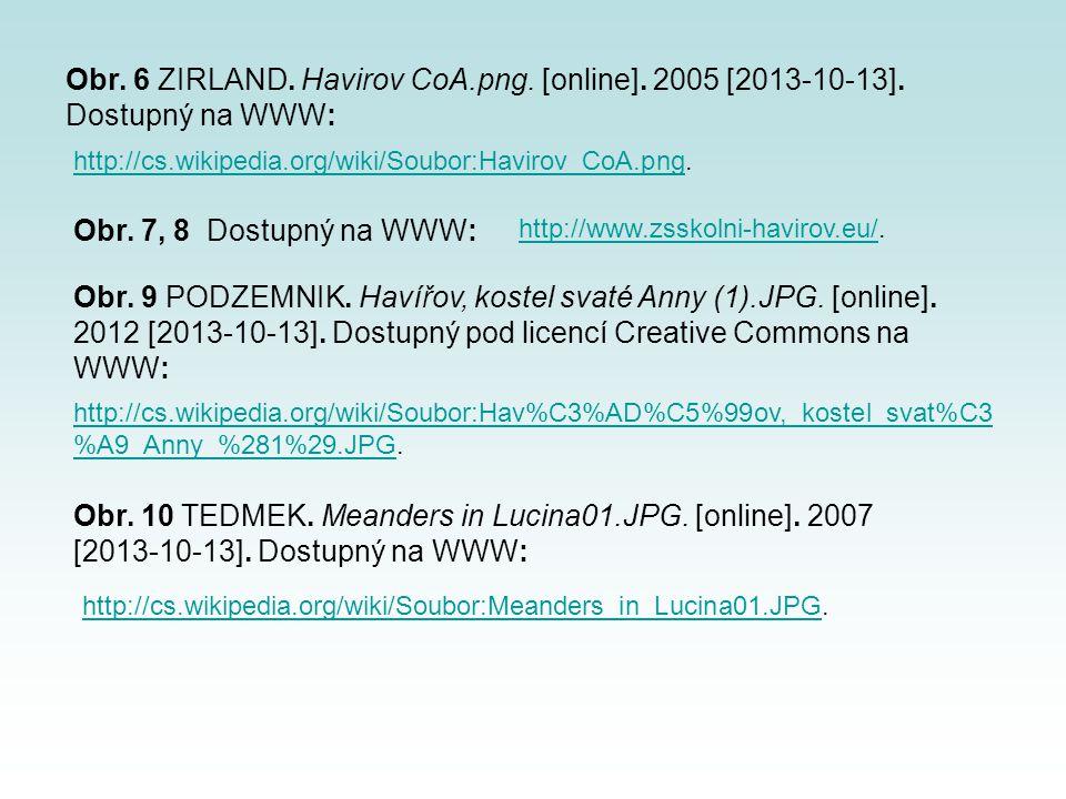 Obr. 6 ZIRLAND. Havirov CoA. png. [online]. 2005 [2013-10-13]